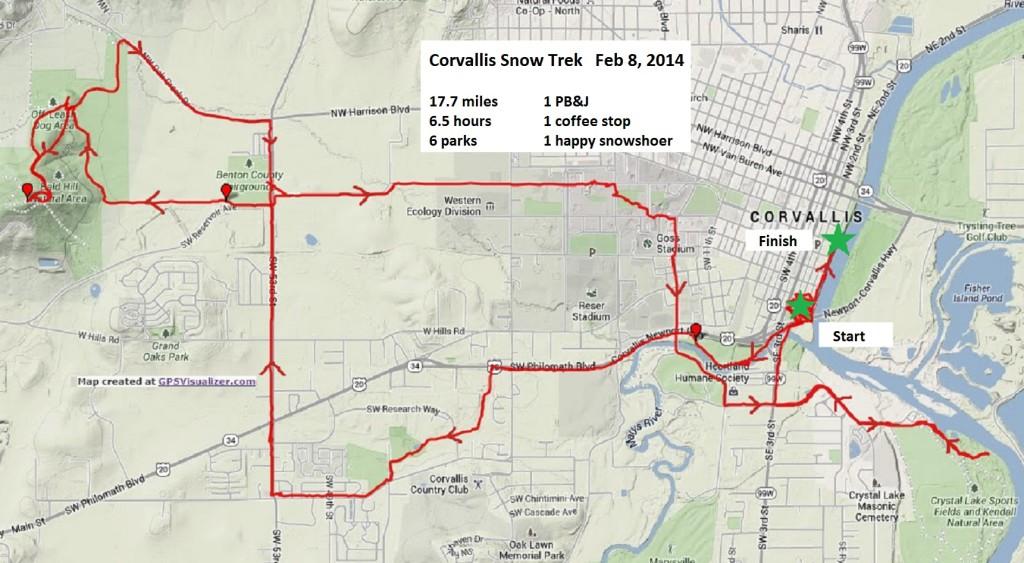 corvallis snow walk map