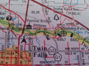 twin falls map