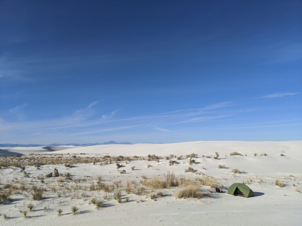 camping white sands